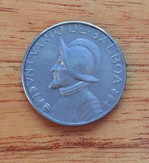 Panamá Monedas Plata 1/4 Balboa 1970 Y Medio Balboa 1973