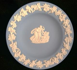 -10% Platito De Porcelana Inglesa (wedgwood) 11cm