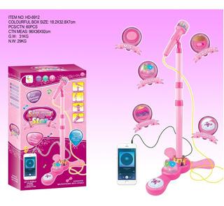 Microfono Pedestal Juguete Mp3 Con Luces Infantil Ingenio