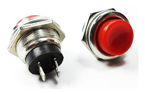 Pulsador De Intercomunicador Rojo 3a 125v Ref: Pul15