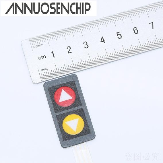 Teclado Membrana Matricial 1x2 2 Teclas Com Setas