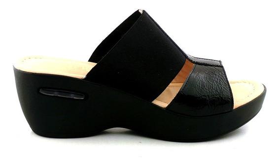 Sandalia Charol Mujer Zueco Briganti Zapato Goma Mcsu48016 2
