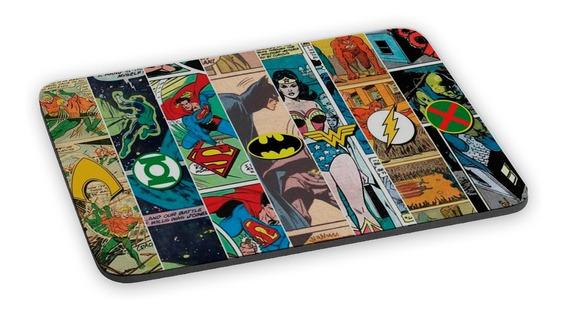 Mouse Pad Liga Da Justiça Super Heróis Hq Gibi Revistinha