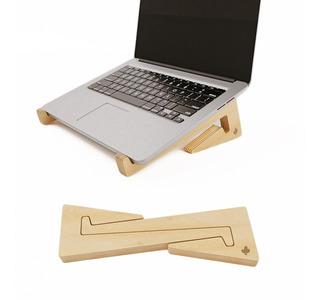 Soporte Para Notebook Macbook De Madera Diseño - Cactusmade