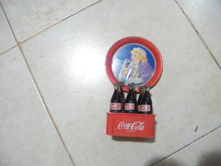 Mini Cajon De Coca Cola Con Bandejita De Chapa