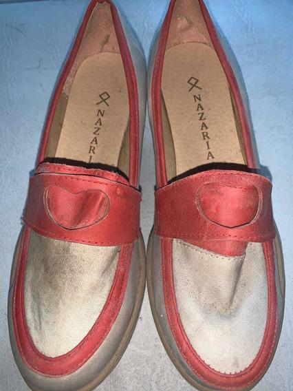 Oferta! Zapatos Plataforma Mocasín(35) Nazaria