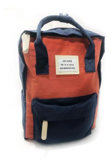 Pack De 5 Mochila Morral Urbano Lona Color A Elegir 140011