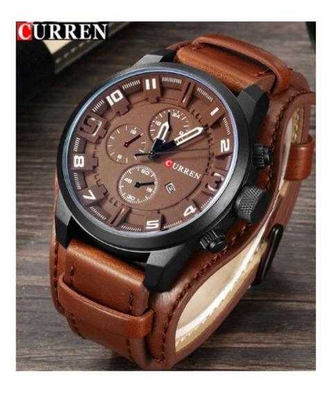 Relógios Masculino Currem Modelo 8225 Pulseira De Couro