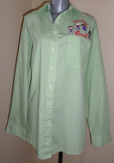 Blusa Verde Para Maestras Kinder! Talla 2x