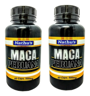 Kit 2 Maca Peruana Original 100% Pura 60 Cápsulas 500mg