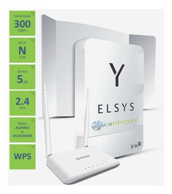 Link 3g Elsys Amplificador Para Área Rural + Roteador Wifi