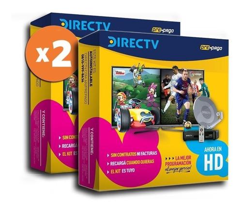 Kit Prepago Directv Con 2 Decodificadores Hd Antena De 60cm