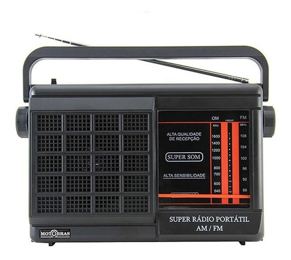 Rádio Portátil Motobrás 2fxs Am Fm Rmpft21ac/22ac