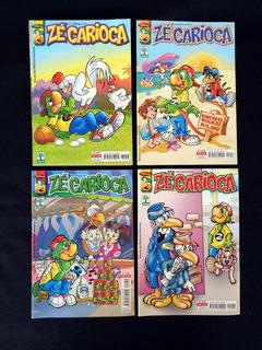 Lote De 4 Revistas Zé Carioca 36 Pgs Editora Abril 2004