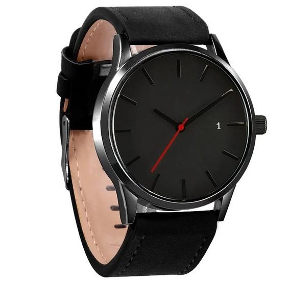 Relógio Masculino Quartzo Calendário, Cor Preto