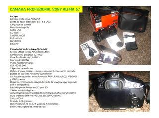 Camara Profesional Sony Alpha 57 Con Lentes Intercambiables