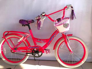 Bicicleta Rod 20 Fire Bird P/nena C/canasto- Works!!