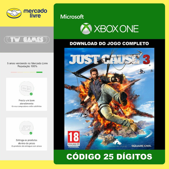 Just Cause 3 Codigo 25 Digitos Original Microsoft Xbox One
