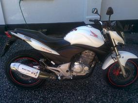 Moto Honda Cb300 Branca 2012 54.000km + 10 Itens Extras.