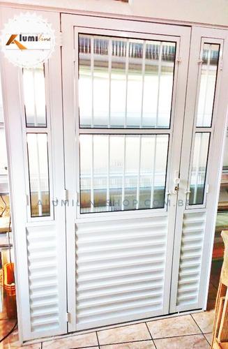 Imagem 1 de 7 de Porta De Alumínio Branco 1,60x2,15 (cliente Osmar)
