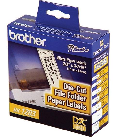 Rollo De 300 Etiquetas Brother Dk1203 Pre-cortadas /v /vc