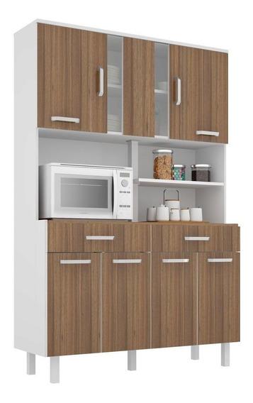 Armário Kit Cozinha Completa Manu 2 Gavetas 8 Portas Oferta