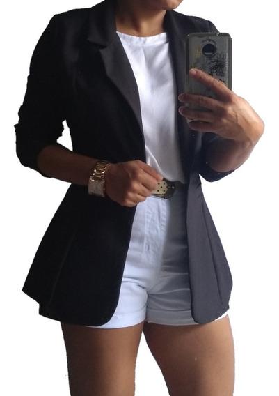 Blazer Max Alfaiataria Feminino Acinturado S/forro: Promoção