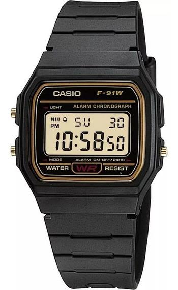 Relógio Casio Unissex F-91wg-9qdf Original 12 Meses Garantia
