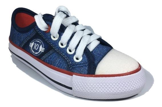 Tênis Infantil Meninos Jeans Starzinho Com Cadarço Jeans