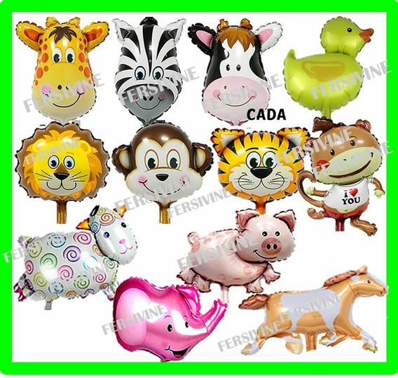 18 Balão Metalizado Safari Fazendinha Animais Festa