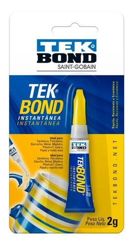 Imagem 1 de 4 de Super Cola Instantânea Tekbond 2g Multiuso Resistente