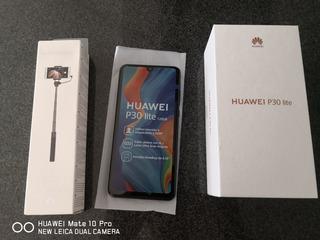 Huawei P30 Lite Negro + Selfiestick Huawei Original