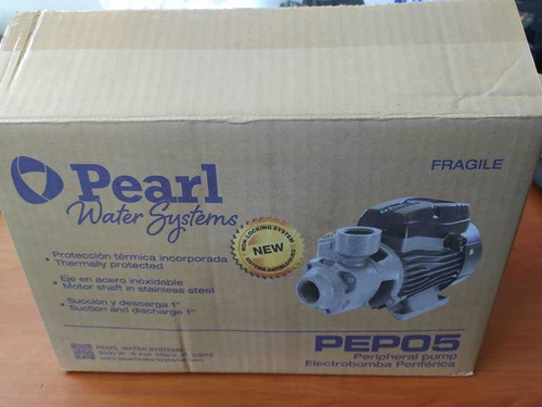 Bomba De Agua Periférica Pearl 0,5 Hp, 110 Voltios 1x1 U.s.a