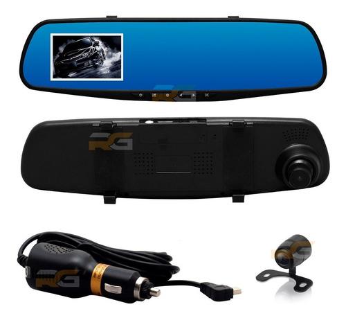 Imagem 1 de 7 de Retrovisor Dvr Com Câmera Frontal E Ré Monitor Full Hd 1080p