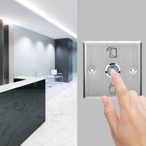 ZOUCY Bot/ón de Salida de Acero Inoxidable Interruptor de presi/ón Sensor de Apertura de Apertura de Sensor de Puerta para Cerradura magn/ética Control de Acceso Protecci/ón de Seguridad para el hogar