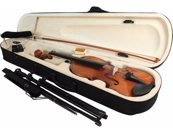 Violino Barato 1/2 Estojo + Breu + Arco + Espaleira Completo