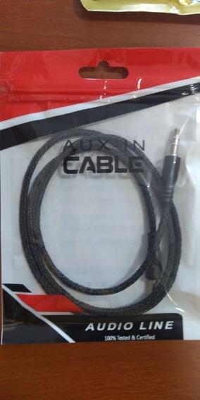 Cable Audio Auxiliar Cordón Mallado Estéreo Plug Jack 3.5