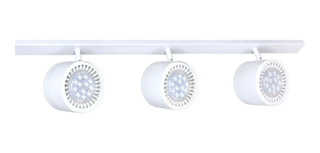 Plafon Riel 80cm 3 Luces Led 12w Cabezal Movil Minimalista