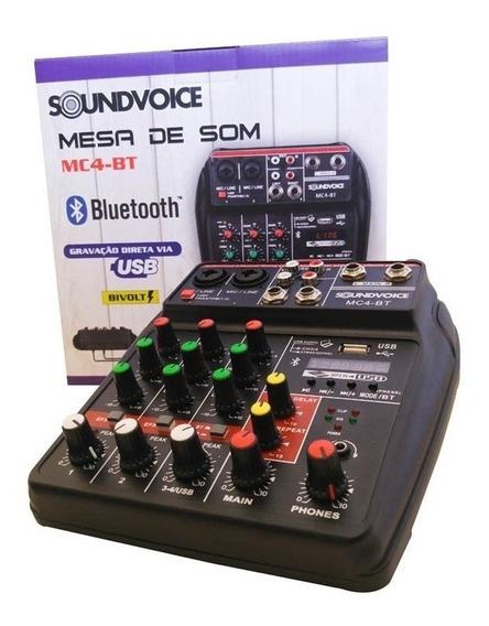 Mesa Soundvoice 4 Canais Mc4-bt