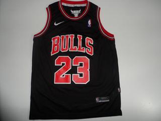 Camiseta Basketball Chicago Bulls Negra #23 Jordan