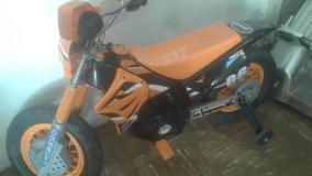 Bella Moto Eléctrica Tipo Enduro Para Niños En 70 Verdes