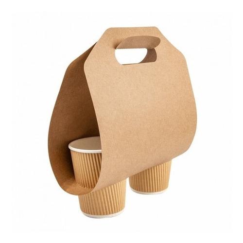 50 Hojas Porta Vaso Doble Autoarmable