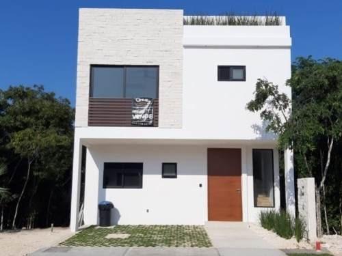Residencial Arbolada Cancun, Casa En Venta Nueva!! C2647
