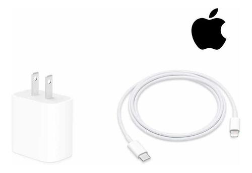 Cargador iPhone 20w Carga Rápida Apple C + Cable Original