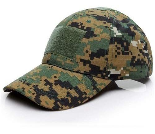 Seedary Gorra Tipo Militar Con Cinta Velcro Al Frente