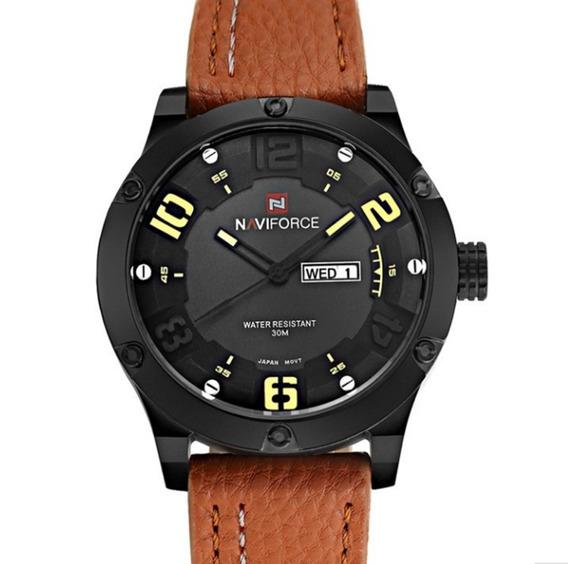 Relógio Masculino Naviforce 9070 De Pulso Pronta Entrega