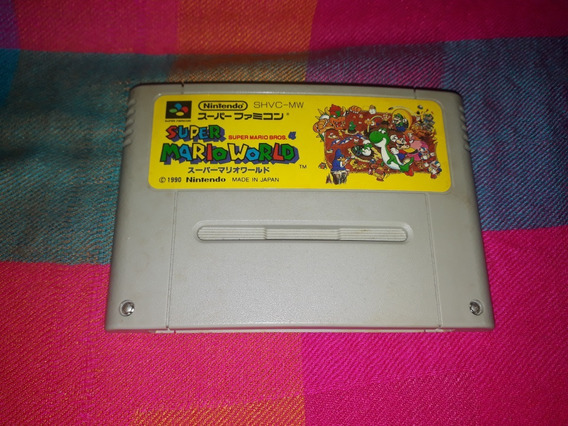 Cartucho Super Mario World Original Super Famicom