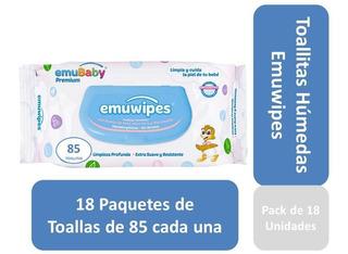 Toallitas Humedas Emuwipes Premium 85 C/u Pack X 18 Bolsas
