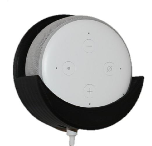 Suporte De Parede Amazon Alexa Echo Dot 3 + Parafuso E Bucha