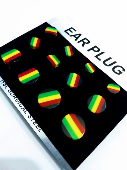 Alargador Reggae Plug Plastico 10mm 12mm 14mm 16mm 18mm 20mm